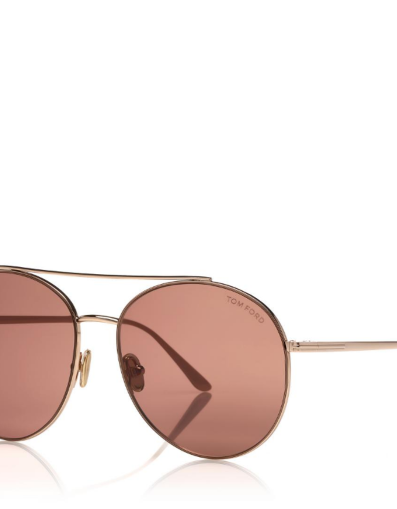 TOM FORD Cleo - Gold with Pink Lens