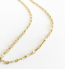 """TEMPLE ST CLAIR 24"""" Classic White Sapphire Chain Necklace"""