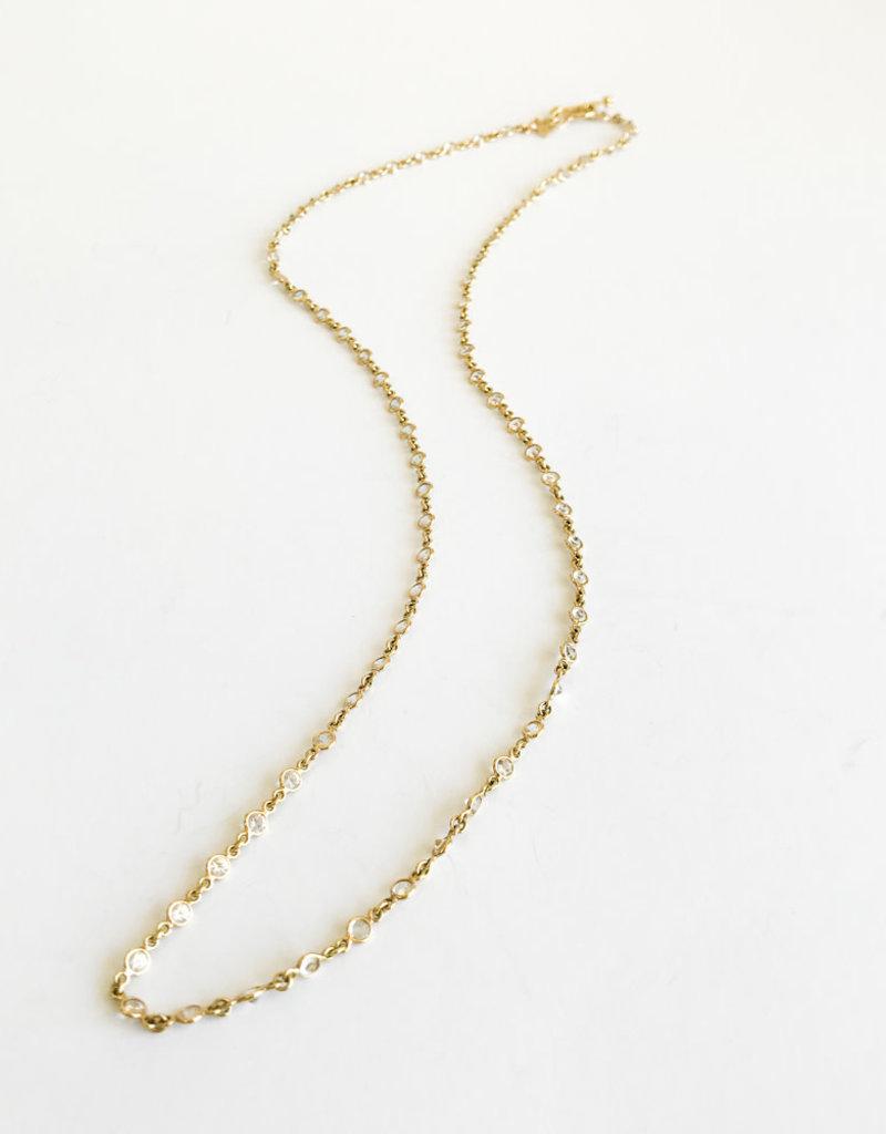 """TEMPLE ST CLAIR 24"""" Classic White Sapphire Chain"""