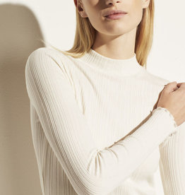 VINCE Variegated Rib Long Sleeve Mock Neck