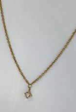 "SENNOD Moonstone Necklace (16-18"") Gold"