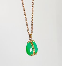 JAMIE JOSEPH Pistachio Chrysoprase Locket Necklace