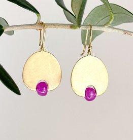 MALLARY MARKS Lily Pad - 18K Burmese Ruby Earrings