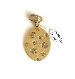 SENNOD Diamond Oval Gold Vignette