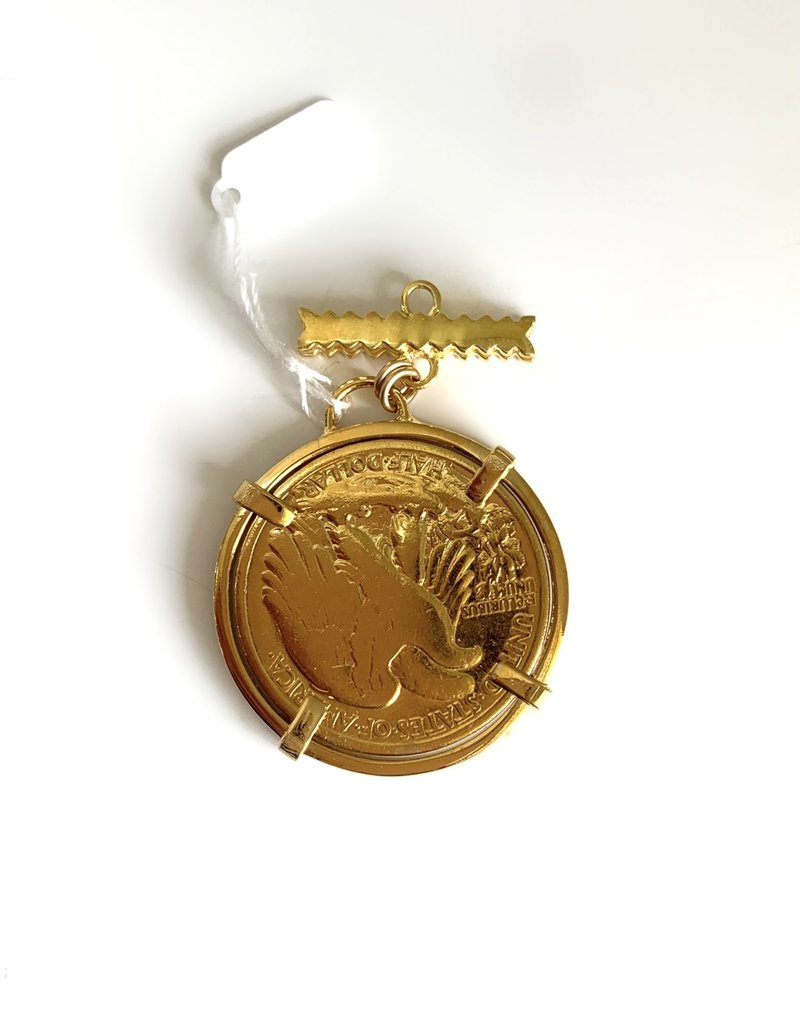 SENNOD Walking Liberty Coin on Bar Vignette