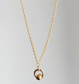 "SENNOD Ball Ring Necklace - 18"""
