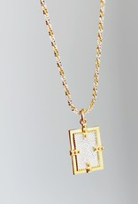 """SENNOD Axis Two-tone with Two-tone Chain Necklace - 18"""""""