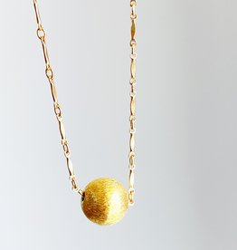 SENNOD Brushed Ball Necklace - 20""