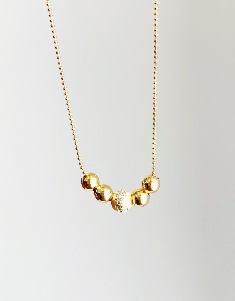 "SENNOD 5 Ball Necklace - 16"""