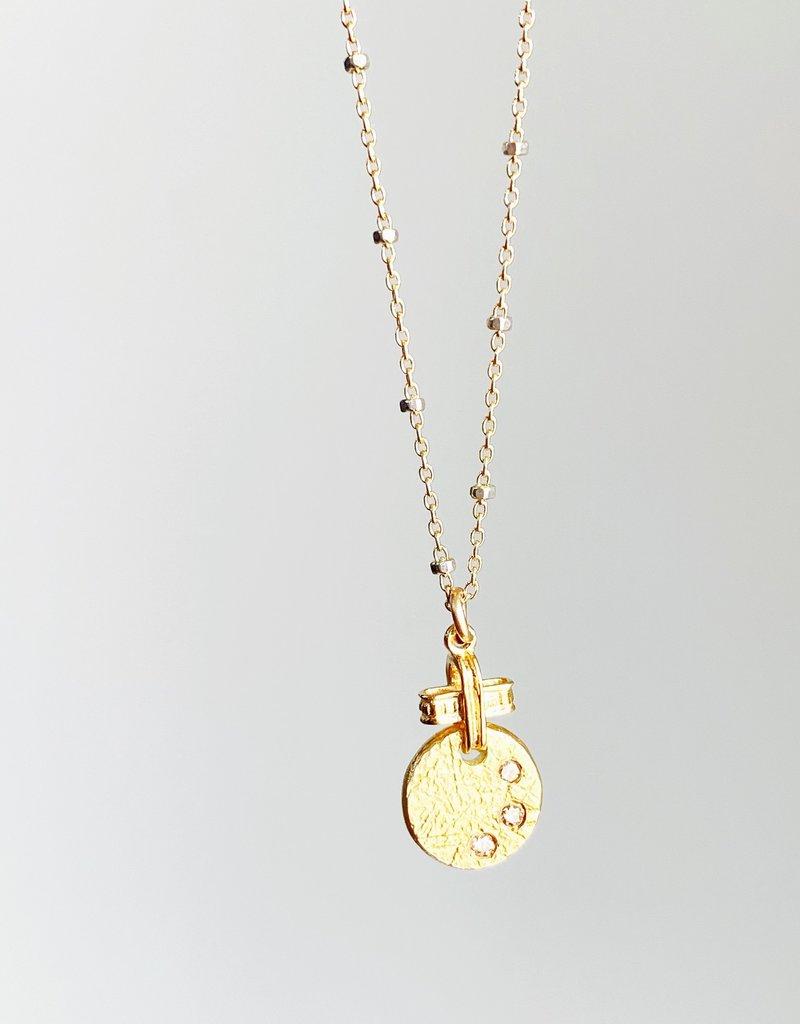 """SENNOD Diamond Remy Disc Necklace - 18"""""""