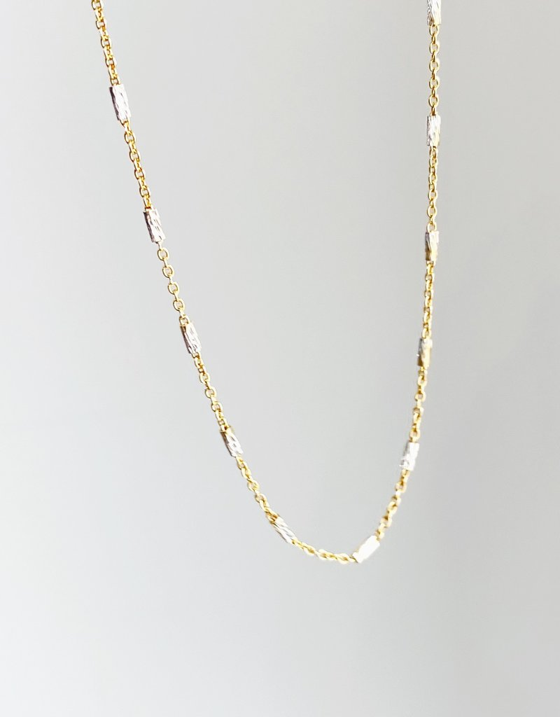 "SENNOD Two-Tone Fine Chain Necklace - 16"""