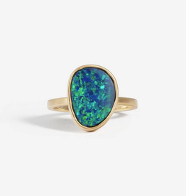 SHAESBY OAK Teardrop Opal Ring - Size 6.75