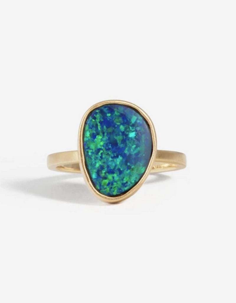 SHAESBY OAK Teardrop Opal Ring - Size 6.75