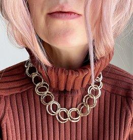 ALEXIS BITTAR Hammered Coil Necklace & Bracelet Set