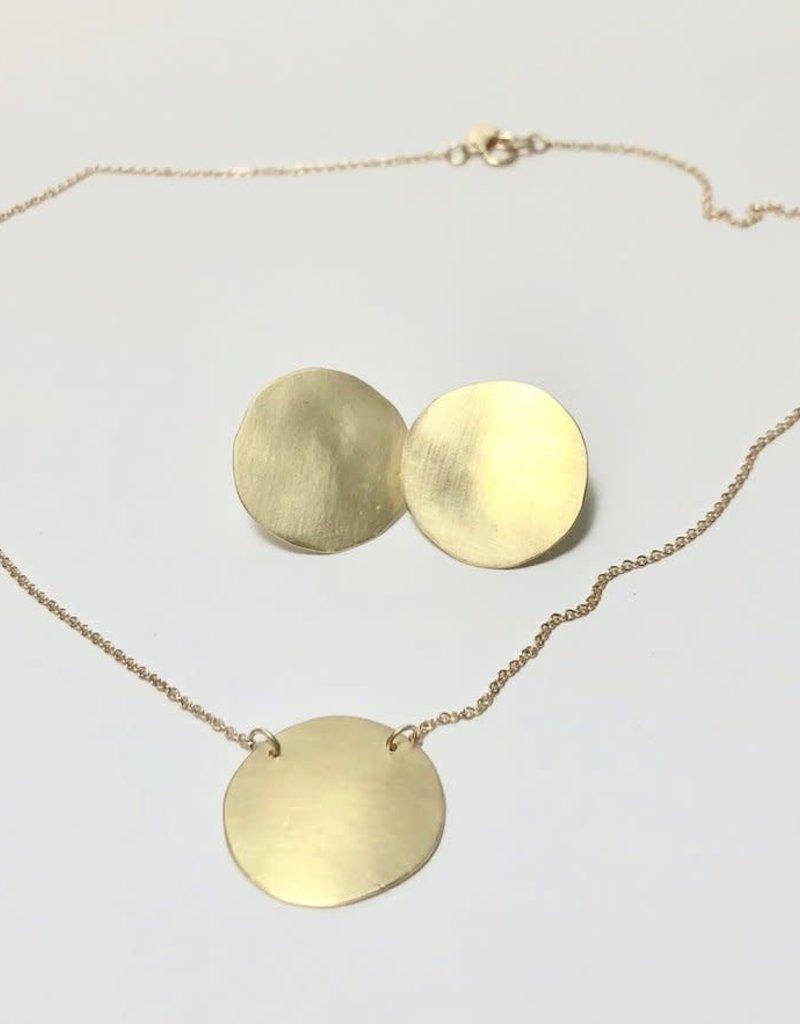 SHANNON JOHNSON 18K Gold Disc Necklace