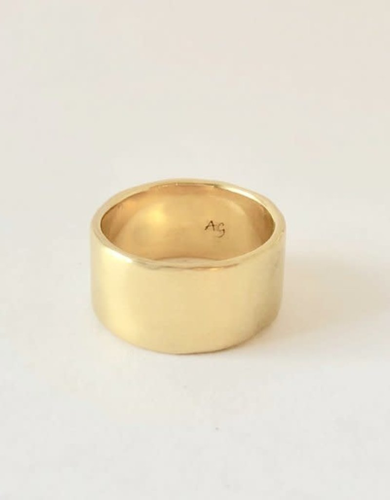 SHANNON JOHNSON Wide Satin Band Ring