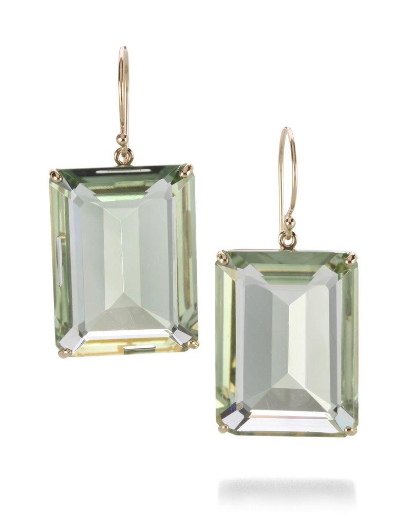 JAMIE JOSEPH Emerald Cut Mint Quartz Earrings