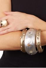 ALEXIS BITTAR Crystal Studded Small Bangle -