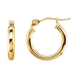LAUREN FINE JEWELRY 13mm Thin Tube Hoop Earrings