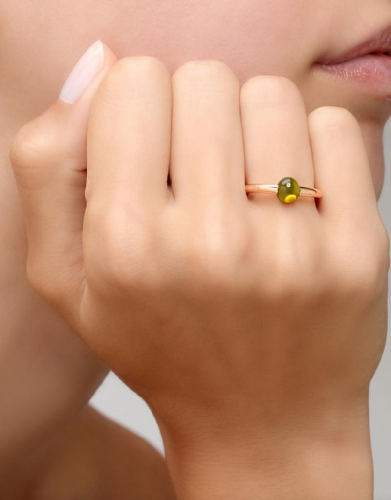 POMELLATO Green Tourmaline M'ama Non M'ama Ring