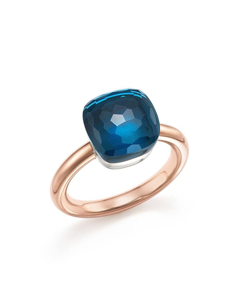 POMELLATO London Blue Topaz Nudo Ring