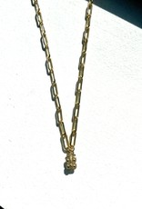 "SENNOD Paperclip Vignette Chain - Gold 24"""