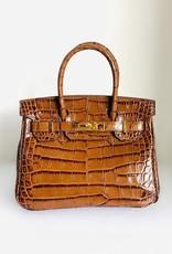 BUTI Caty 26cm Brown Crocco Bag