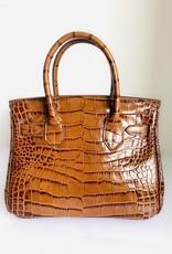 BUTI 26cm Brown Crocco Bag