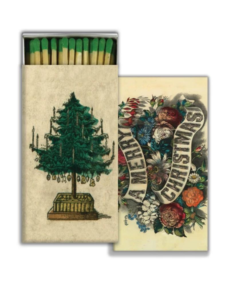 JOHN DERIAN John Derian Co. Matches - Holiday Tree & A Merry Christmas