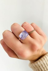 JAMIE JOSEPH Small Rose Cut Lavender Amethyst Ring