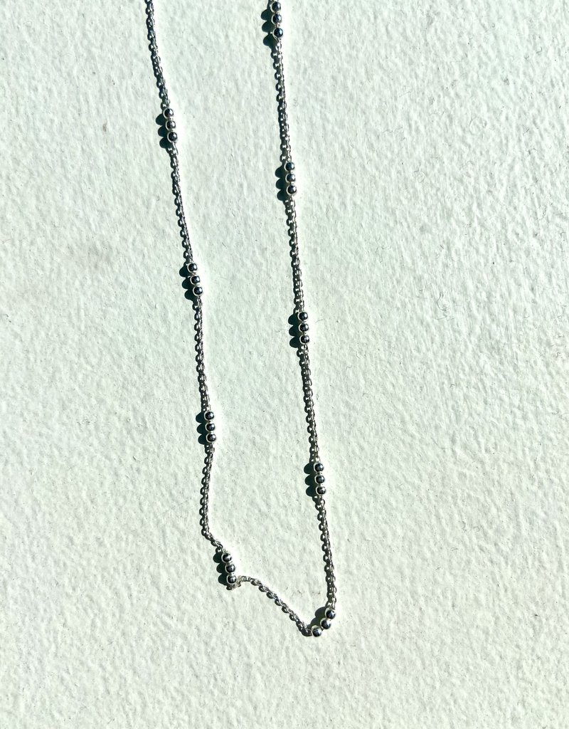"SENNOD Mini Ball Sterling Necklace - 18"""