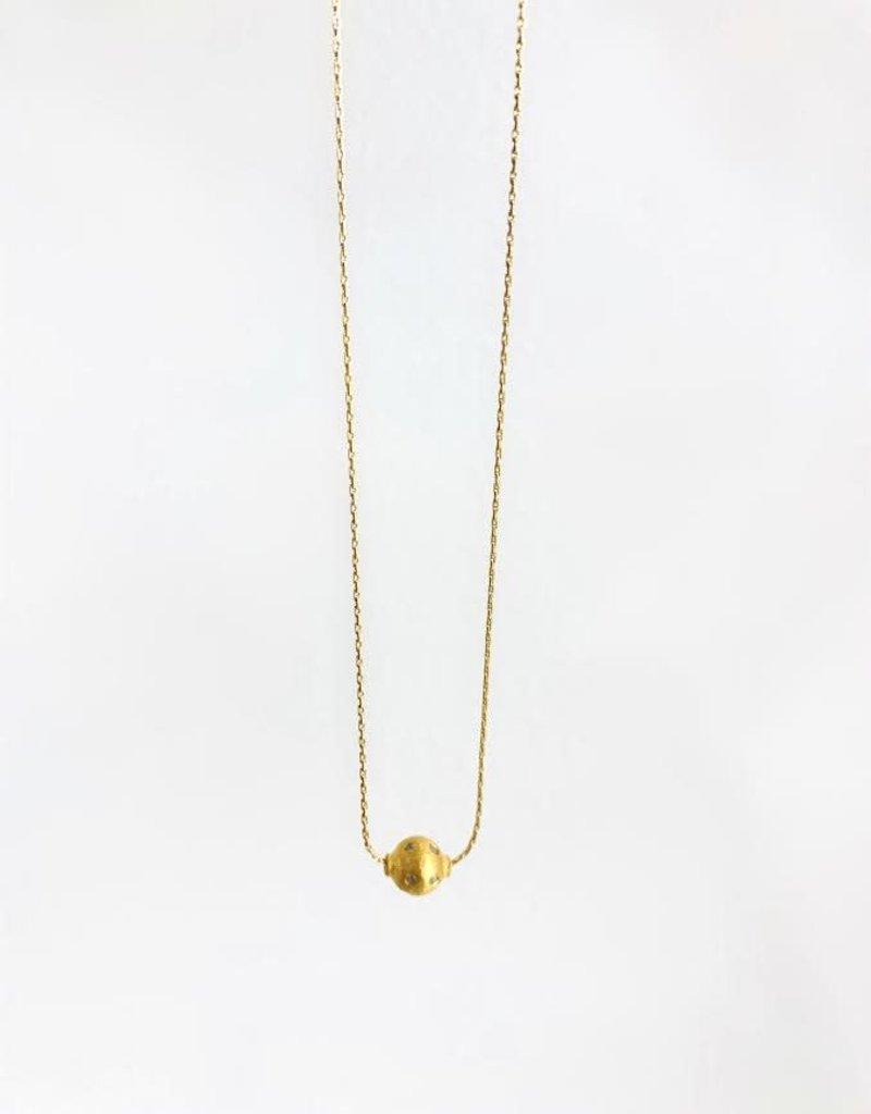 "SENNOD Diamond Ball Necklace 16"""