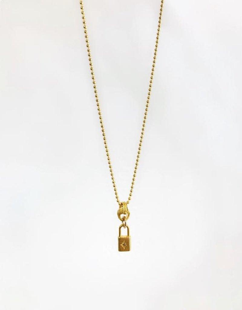"""SENNOD Florence Lock Necklace 16"""""""