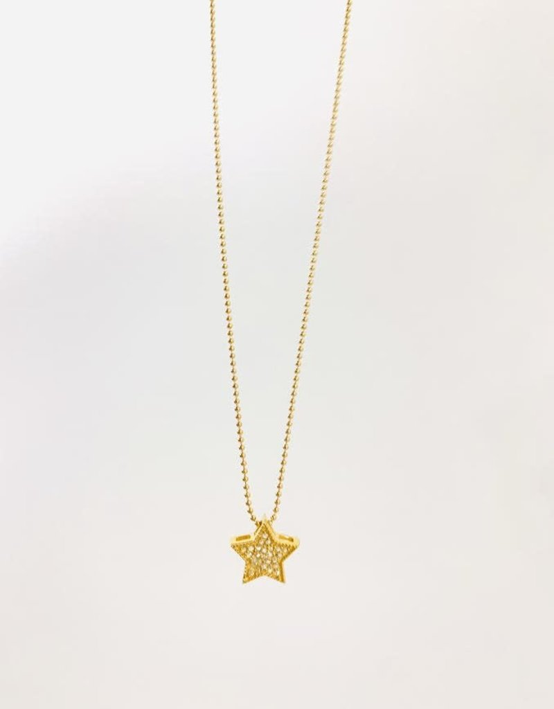 "SENNOD Diamond Star Necklace 16"""