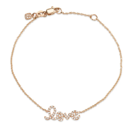 SYDNEY EVAN 14K Mini Pave Love Bracelet