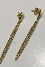 SENNOD Diamond Dagger Post Earring