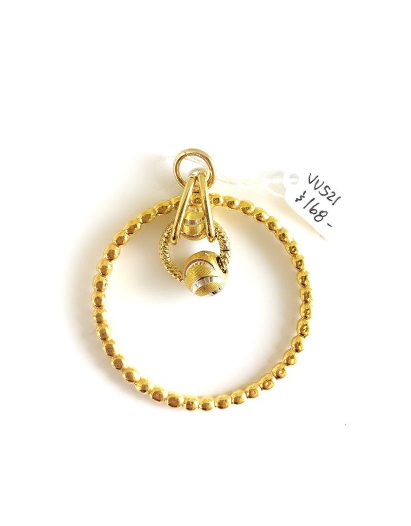 SENNOD Gold Ball Ring with Ball Cluster Vignette