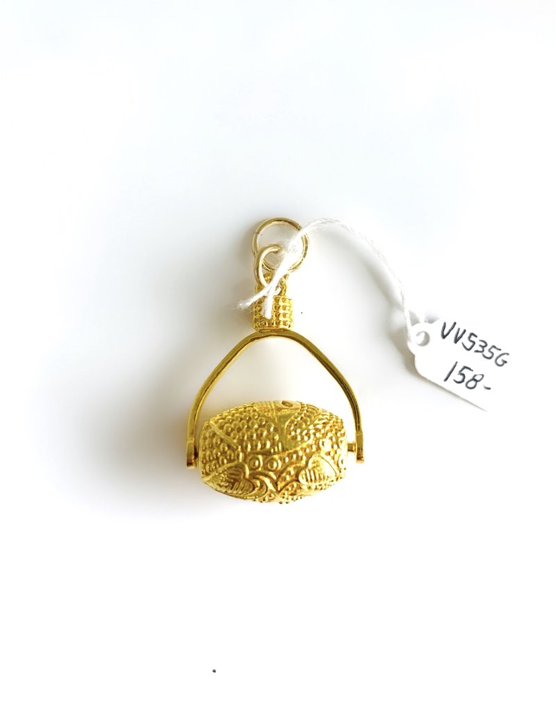 SENNOD Gold Pebble Botanic Barrel Vignette