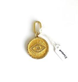 SENNOD Evil Eye Diamond Gold Medallion Vignette