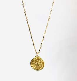 SENNOD Botanic Gold Medallion Necklace