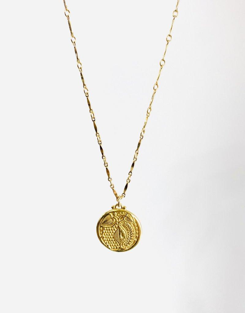 SENNOD Botanic Gold Medallion Necklace