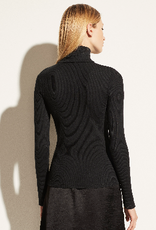 VINCE Long Sleeve Half-Zip Turtleneck