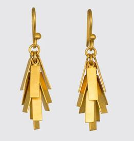 Jane Diaz Short Rectangle Cluster Drop Earrings