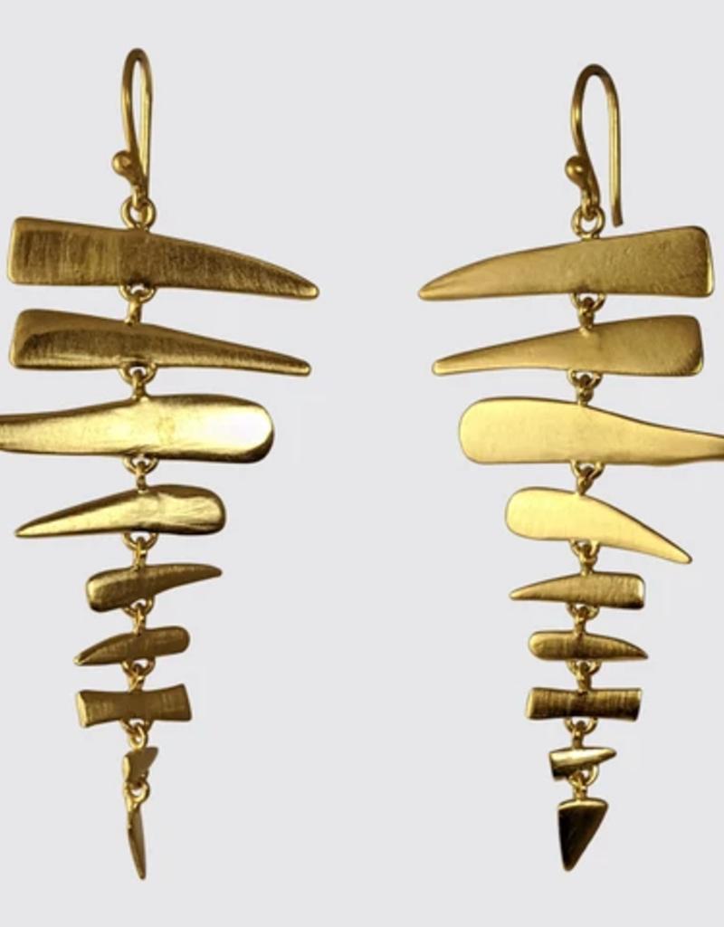 Jane Diaz Large Fishbone Earrings
