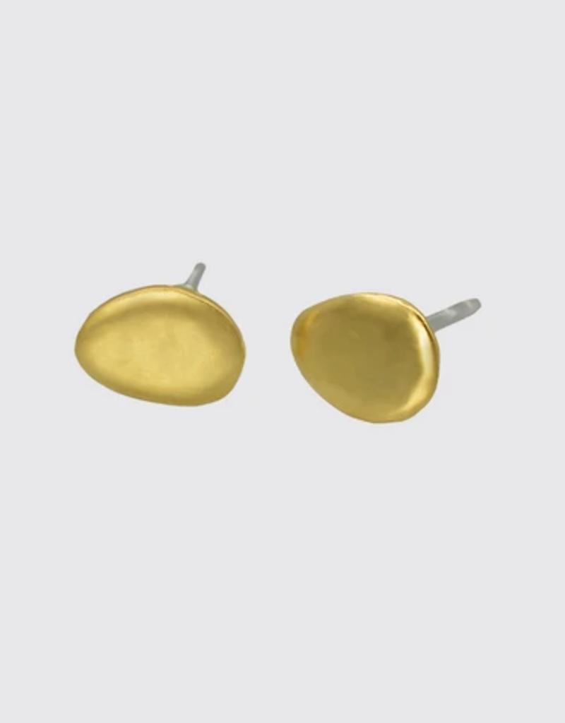 Jane Diaz Medium River Rock Stud Earrings