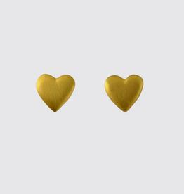 JANE DIAZ Small Heart Stud Earrings