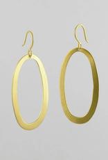 JANE DIAZ Large Oval Drop Earrings