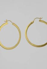 Jane Diaz Large Flat Hoop Earrings