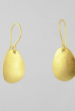 Jane Diaz Organic Shaped Domed Drop Earrings