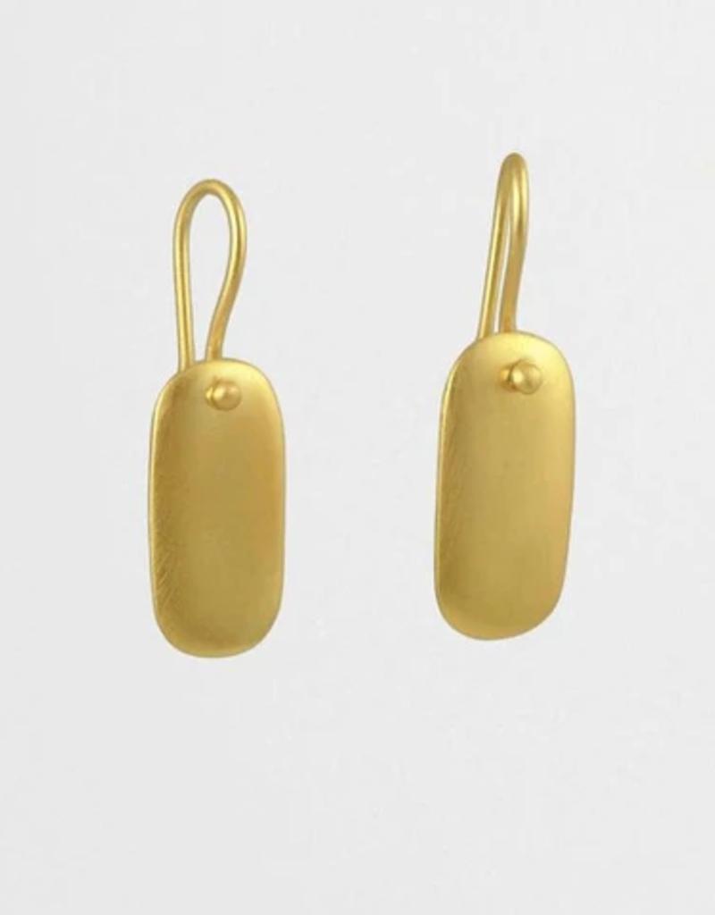 JANE DIAZ Medium Tab Drop Earrings